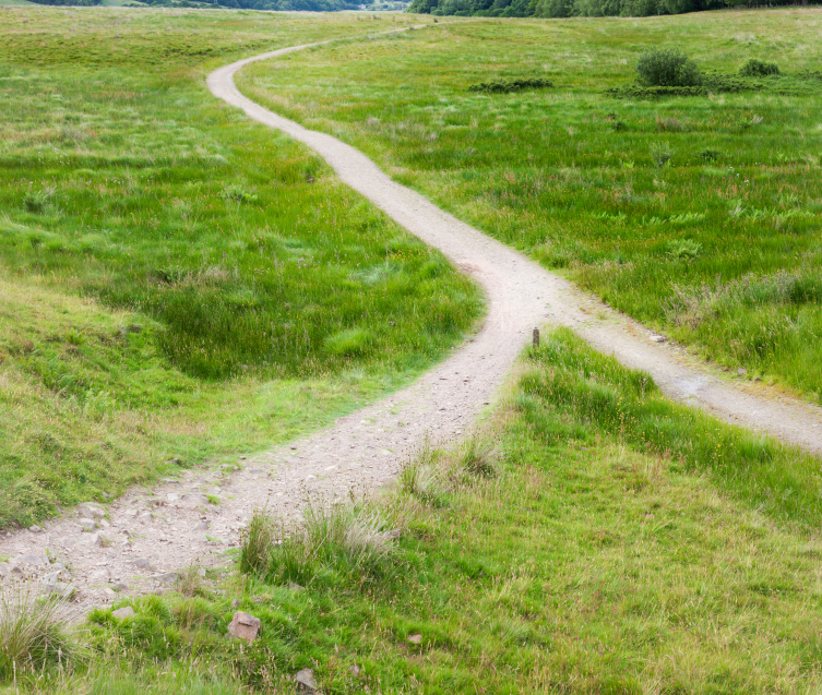 two roads converging